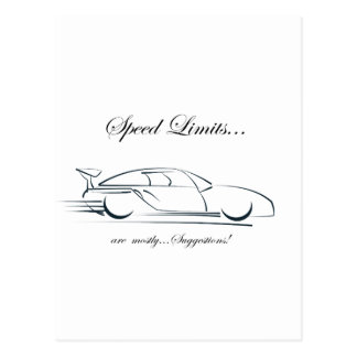 Speed Limits...are mostly suggestions! Postcard