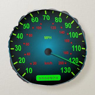 Speed Lover Speedometer I Love Speed Round Pillow