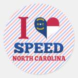 Speed, North Carolina Classic Round Sticker