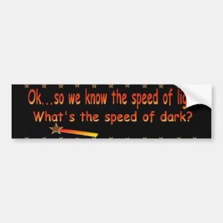 Speed Of Light  Bumper Sticker