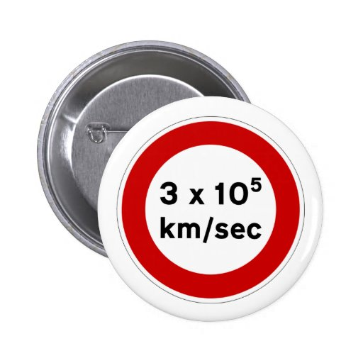 Speed of Light Sign Button