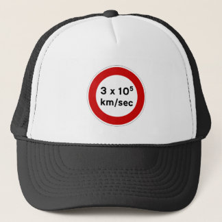 Speed of Light Sign Hat