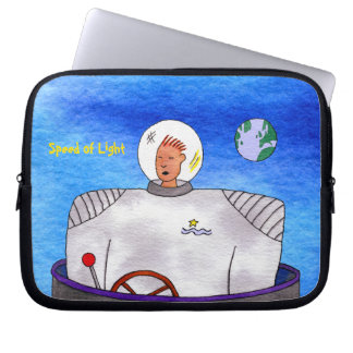 "Speed of Light TinCan Space Man 10"" Laptop Sleeve"