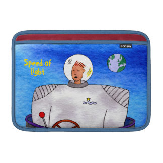 "Speed of Light TinCan Space Man 11"" Sleeve For MacBook Air"