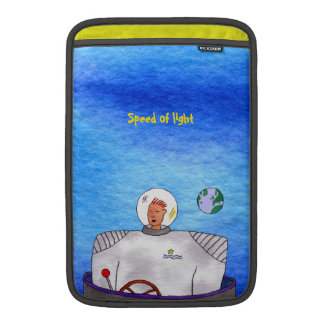 "Speed of Light TinCan Space Man 11"" Vertical MacBook Air Sleeve"