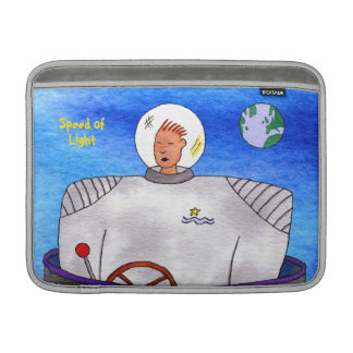 "Speed of Light TinCan Space Man 13"" Horizontal MacBook Air Sleeve"