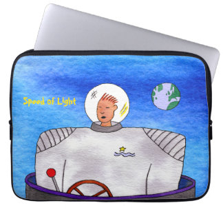 "Speed of Light TinCan Space Man 13"" Laptop Sleeve"