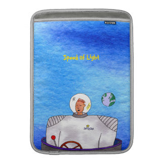 "Speed of Light TinCan Space Man 13""Vertical MacBook Air Sleeve"