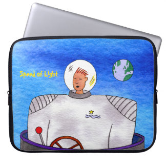 "Speed of Light TinCan Space Man 15"" Laptop Sleeve"