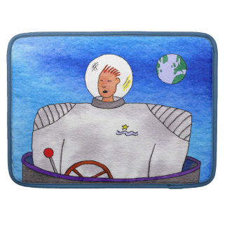 "Speed of Light TinCan Space Man 15"" Sleeve For MacBooks"