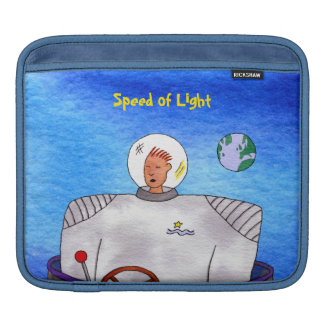 Speed of Light TinCan Space Man Horizontal iPad Sleeve