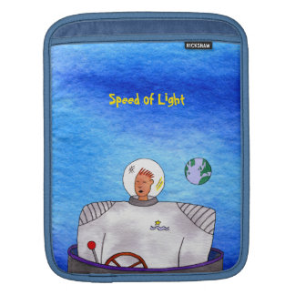 Speed of Light TinCan Space Man Vertical Sleeve For iPads