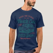 Speed Shop Vintage Style Muscle Car T-Shirt