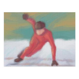 Speed Skate Postcard