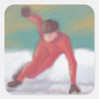 Speed Skate Square Sticker