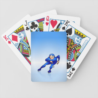 Speed skater bicycle playing cards