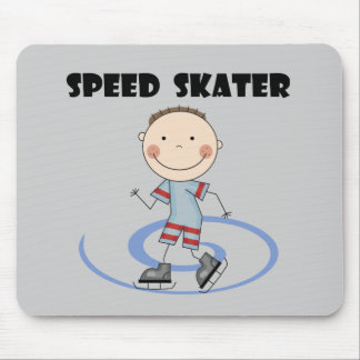Speed Skater - Boy Tshirts and Gifts Mouse Pad