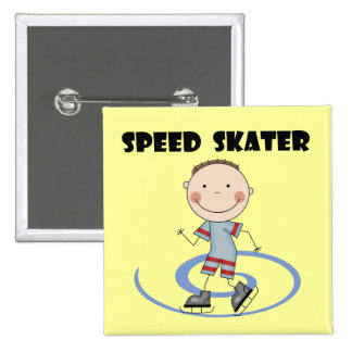 Speed Skater - Boy Tshirts and Gifts Pinback Button
