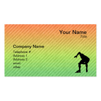 Speed Skater Business Card