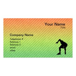 Speed Skater Business Card