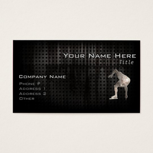 Speed Skater; Cool Business Card