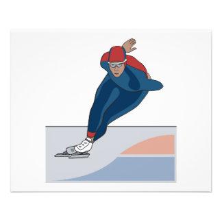 speed skater flyer