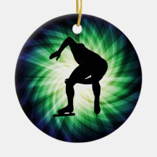 Speed Skater Gift Ceramic Ornament