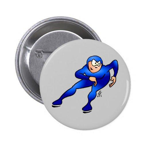 Speed skater - Ice skater 2 Inch Round Button