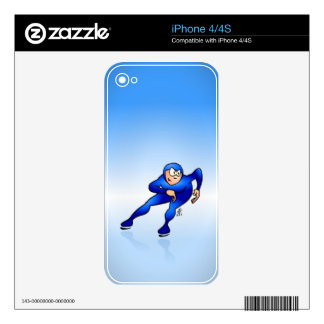 Speed skater iPhone 4S decal