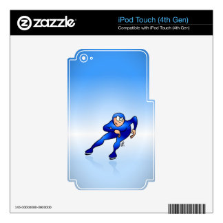 Speed skater iPod touch 4G decals