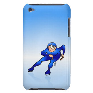 Speed skater iPod touch case
