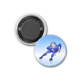 Speed skater magnet