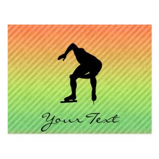 Speed Skater Postcard
