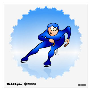 Speed skater wall decal