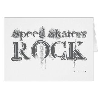 Speed Skaters Rock Greeting Card