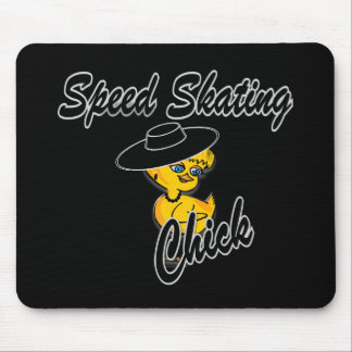 Speed Skating Chick #4 Mouse Pad