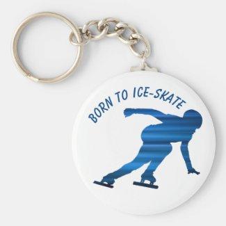 Speed skating keychain