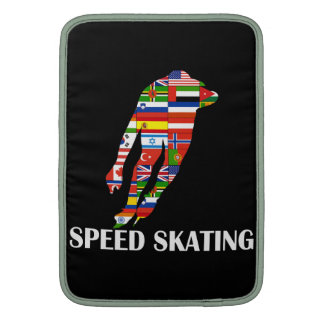 Speed Skating MacBook Sleeve