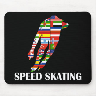 Speed Skating Mouse Pad