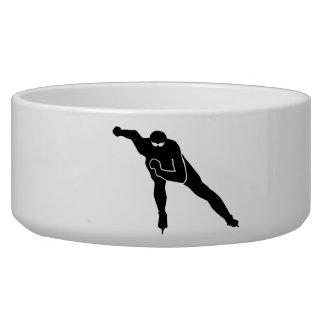 Speed skating pet bowl