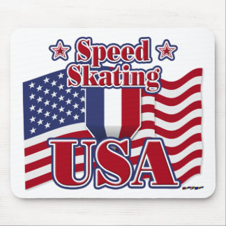 Speed Skating USA Mouse Pad