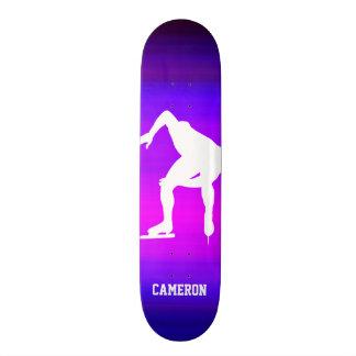 Speed Skating; Vibrant Violet Blue and Magenta Skate Board