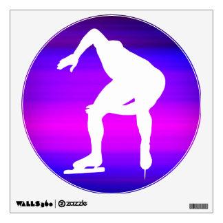 Speed Skating; Vibrant Violet Blue and Magenta Wall Skin