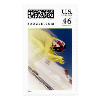 Speed Ski Racing photo Stamps
