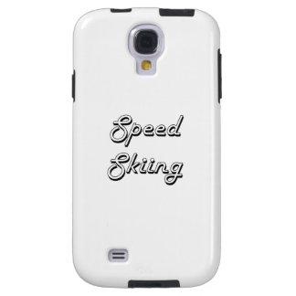 Speed Skiing Classic Retro Design Galaxy S4 Case
