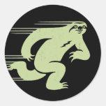 Speed Sloth Classic Round Sticker