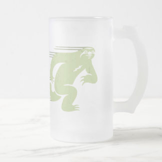 Speed Sloth Frosted Glass Beer Mug