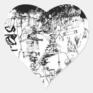 speed heart sticker