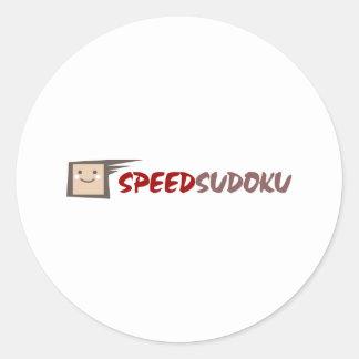 Speed Sudoku Classic Round Sticker