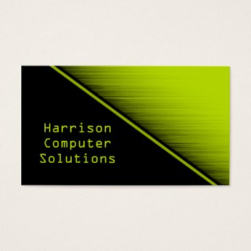Professional Business Speed Texture Business Card, Neon Green Business Card